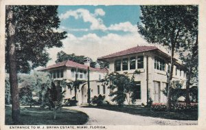 MIAMI, Florida, 1900-1910's; Entrance To W.J. Bryan Estate