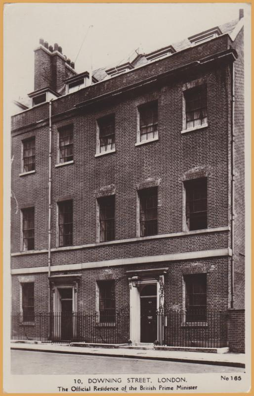 RPPC-London, U.K., 10, Downing Street, The Official Residence of the Prime Minis