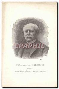 Old Postcard Chamber of Deputies Lieutenant Colonel Halgouet Depute General C...