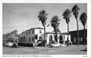 Pittsburg California Post Office Street View Antique Postcard K94143
