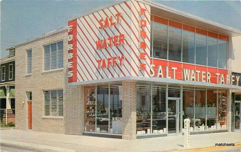 1950s Virginia Beach Forbes Salt Water Taffy Candy Postcard 525 Rowe