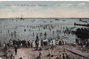Wisconsin Milwaukee Bathing Beach McKinley Paek 1913