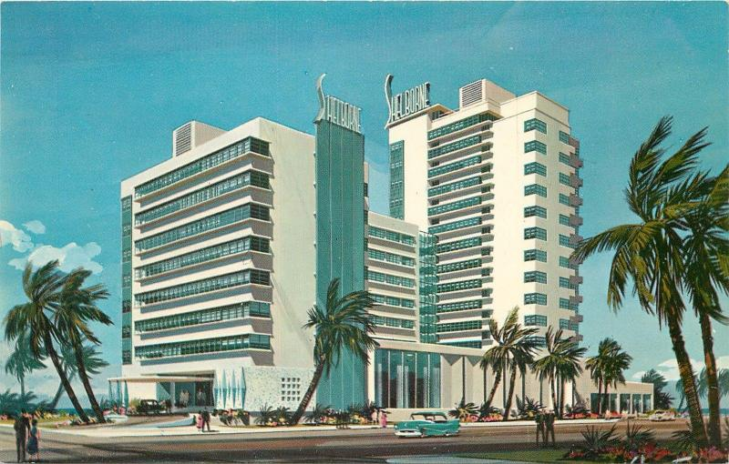 Shelbourne Hotel Cabana Club Miami Beach Florida Old Cars 1950 S