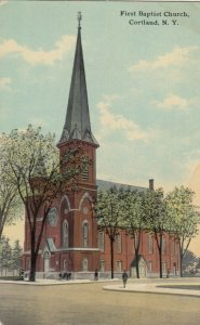 CORTLAND ,  New York , 1914 ; First Baptist Church