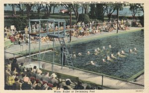 EDGEWATER PARK, Mississippi, 1930-40s; Water Ballet at Swimming Pool
