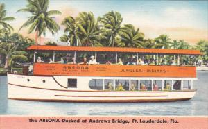 Forlida Ft Lauderdale Abeona Sightseeing Boat at Andrews Bridge