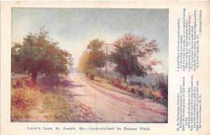 Missouri St. Joseph    Lover's Lane   Poem by Eugene Field