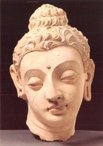 Head of the Buddha - Lime Plaster
