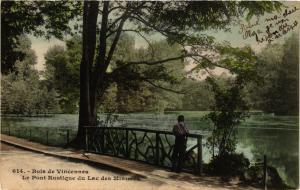 CPA PARIS 12e-Bois de Vincennes-Le Pont Rustique du Lac des Minimes (322716)