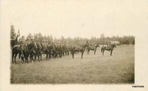 Army Calvary C-1910 Military Northern Pacific Railroad RPPC real photo 9015
