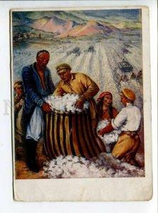 289766 RUSSIA VEYDEMAN Weideman Voroshilovsky Saturday in cotton fields 1934