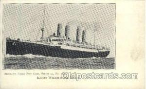 Kaiser Wilhelm Der Grosse Ship Ships Ocean Liner Postcard Postcards  Kaiser W...