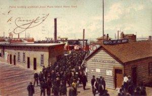 1909 FERRY FROM MARE ISLAND NAVY YARD - J J Madigan & Co Souvenir Postals