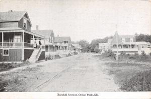 Ocean Park Maine~Dirt Rd Past Homes w/Big Porches~1 w/Corner Turret 1910 Swallow