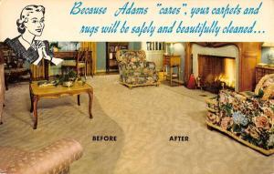 Adams Rug Cleaning Comparison Advertisment Vintage Postcard K41515