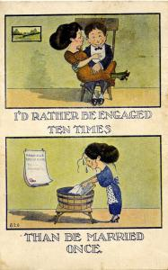 I'd rather be engaged ten times…    (Romance)