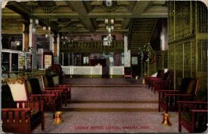 Omaha NE~SEVEN! Spittoons~Hotel Loyal Lobby~Balcony~Key Slots~Stained Glass~1912