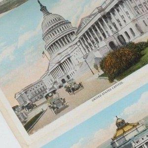 Washington DC vintage souvenir postcard views folder 30s/40s