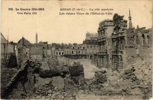 CPA Militaire - Arras - Les ruines Place de l'Hotel-de-Ville (698360)