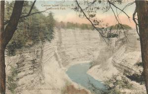 Castile New York~Handcolored: Canyon Below Glen Iris @ Letchworth Park~1910