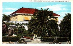 California Beverly Hills Residence Of Gloria Swanson