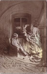 A St. Helene Le Reve Reves de Napoleon c1912 Mastroianni Real Photo Postcard E32