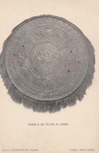 Rodela De Felipe III Medical Spanish Antique Postcard