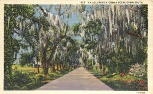 Alluring Highway Scene Down South - Dixieland - Linen
