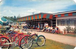 Bushkill Pennsylvania Fernwood Lounge Patio Vintage Postcard K96226