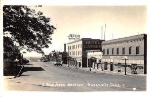 Susanville CA Storefronts Old Cars J. C. Penney RPPC Postcard