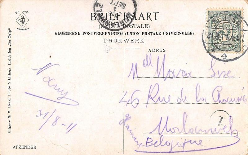Netherlands Marken Afzender 1911