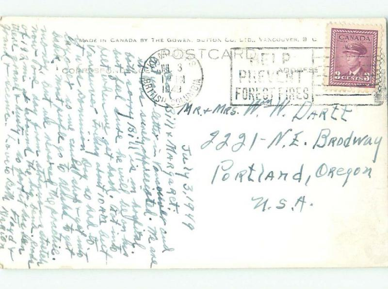 1940's rppc NICE VIEW Kamloops British Columbia BC W0923