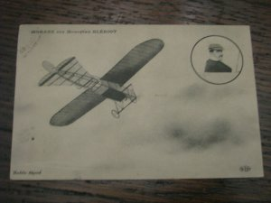 Aviation Postcard Airplane France French Bleriot