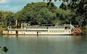 LP58  W.P.Snyder Steamboat Marietta  Ohio Postcard  paddlewheeler riverboat