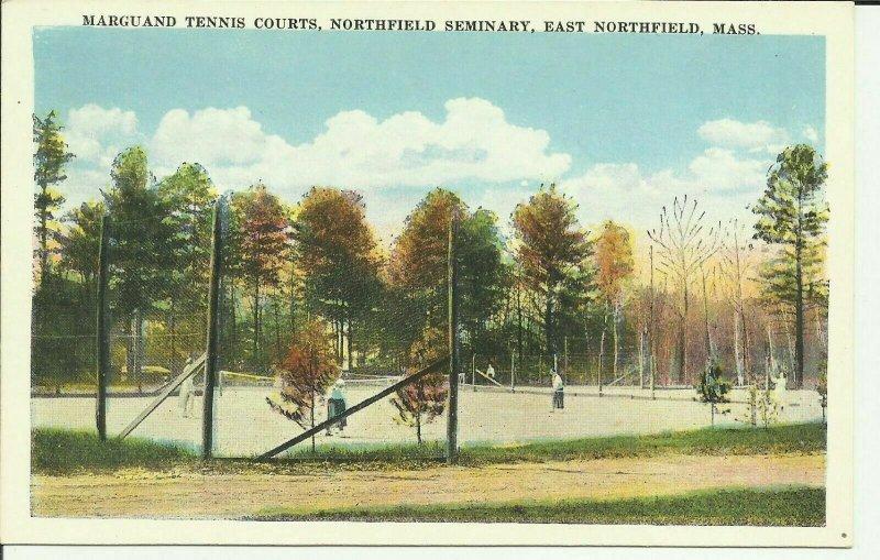 East Northfield, Mass., Marguand Tennis Courts, Northfield Seminary