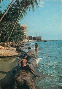 Gabon Libreville vue de la plage pres de l`hotel  Le Dialogue  postcard