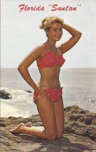 Florida Suntan Girl, FL, Beautiful Woman, Sexy Girl, Bikini Swimsuit, 1960-70