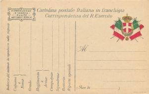 Cartolina postale Italiana Militare in franchigia Real Esercito Italia