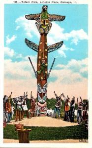 Illinois Chicago Lincoln Park Kwa Ma Rolas Indian Totem Pole