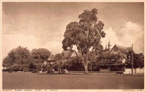 Queen's Park Hotel, Port of Spain, Trinidad, B.W.I. early Postcard, Used in 1939
