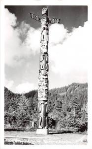 Alaska AK Real Photo RPPC Postcard c1930s SAXMAN Totem Pole Grizzly Bear 2