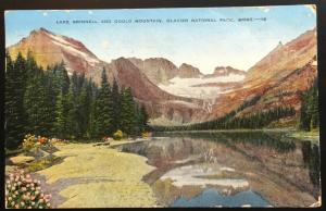 Linen Postcard Used 4/11/50 Lake Grinnell Glacier Natl Park MT LB