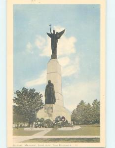 Unused 1930's SOLDIERS MEMORIAL St. John New Brunswick NB F2428