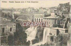 Postcard Old Tivoli Cascate Vecchie Sotto Il ponte Gregoriano