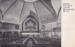MOUNDSVILLE , West Virginia , PU-1911; Interior, First M.E. Church