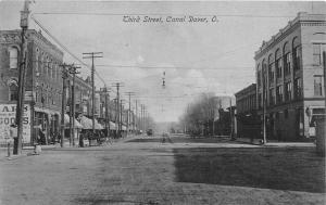 F63/ Canal Dover Ohio Postcard c1910 Third Street Stores