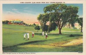 Golf Country Club House From Golf Course Roanoke Virginia
