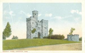 Bancroft Tower, Worcester, Mass early 1900s unused Postcard