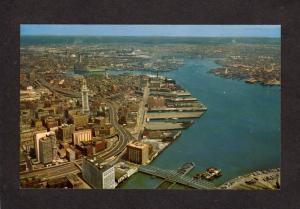 MA Waterfront Congress St Bridge Mass Massachusetts Boston Postcard Custom House