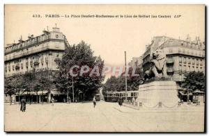 Paris (14) The Lion of Belfort-Work of Bartholdi Place Denfert-Rochereau, The...